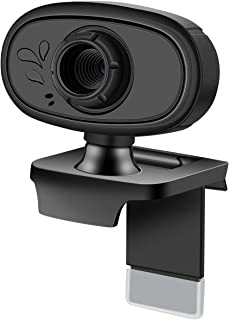 720P Computer Webcam with Microphone, Clip-on PC Laptop Desktop Driverless Camera for Live Class Conference Video Calling Hangouts