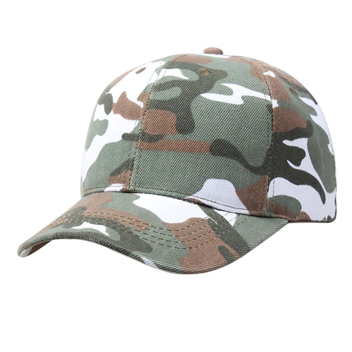 分照らす相続人Racazing Cap 迷彩 野球帽 軍用 通気性のある ヒップホップ 帽子 夏 登山 緑 可調整可能 棒球帽 男女兼用 UV 帽子 軽量 屋外 カモフラージュ Unisex Cap (緑)