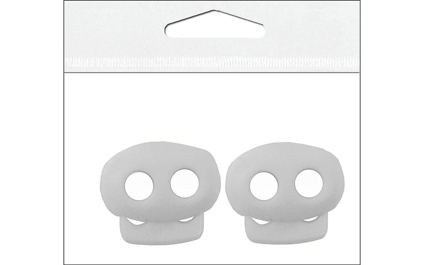 Petersen-Arne Essentials PAW47029 2 Piece White Mini Cord Lock, 1/8
