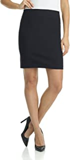 black knit skirt knee length