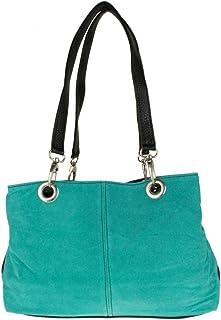 Girly Handbags Italienische Wildleder-Umhängetasche