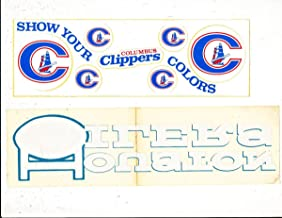 Columbus Clippers bumper sticker bx1 (only one listed)