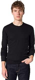 American Apparel Men Baby Thermal Crewneck Long Sleeve T-Shirt