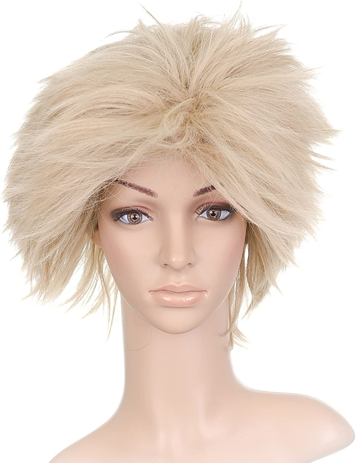 Light Blonde Windblown Styled Short Length Anime Cosplay Costume Wig B0089TRVEW Flagship-Store   | Online Shop Europe