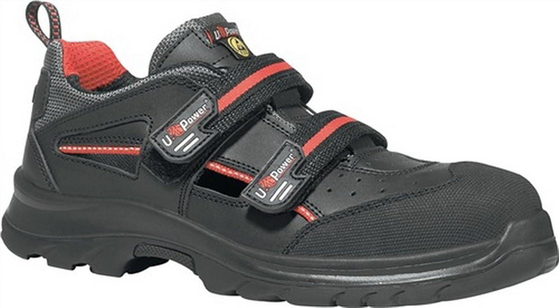 Sandale EN20345 ESD S1P SRC Oak Gr. 46 Glattleder schwarz schwarz schwarz Klettverschluss  3d62d7