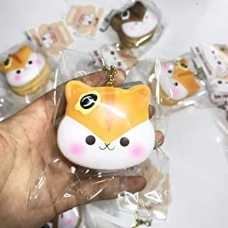 PopularBoxes Poli Hamster Mini Pancake Scented Squishy, 1PC, Slow Rising Squishies, Stress Ball, Bag Charm, Backpack Charm, Phone Charm, Key Chain, Stress Relief Toys.