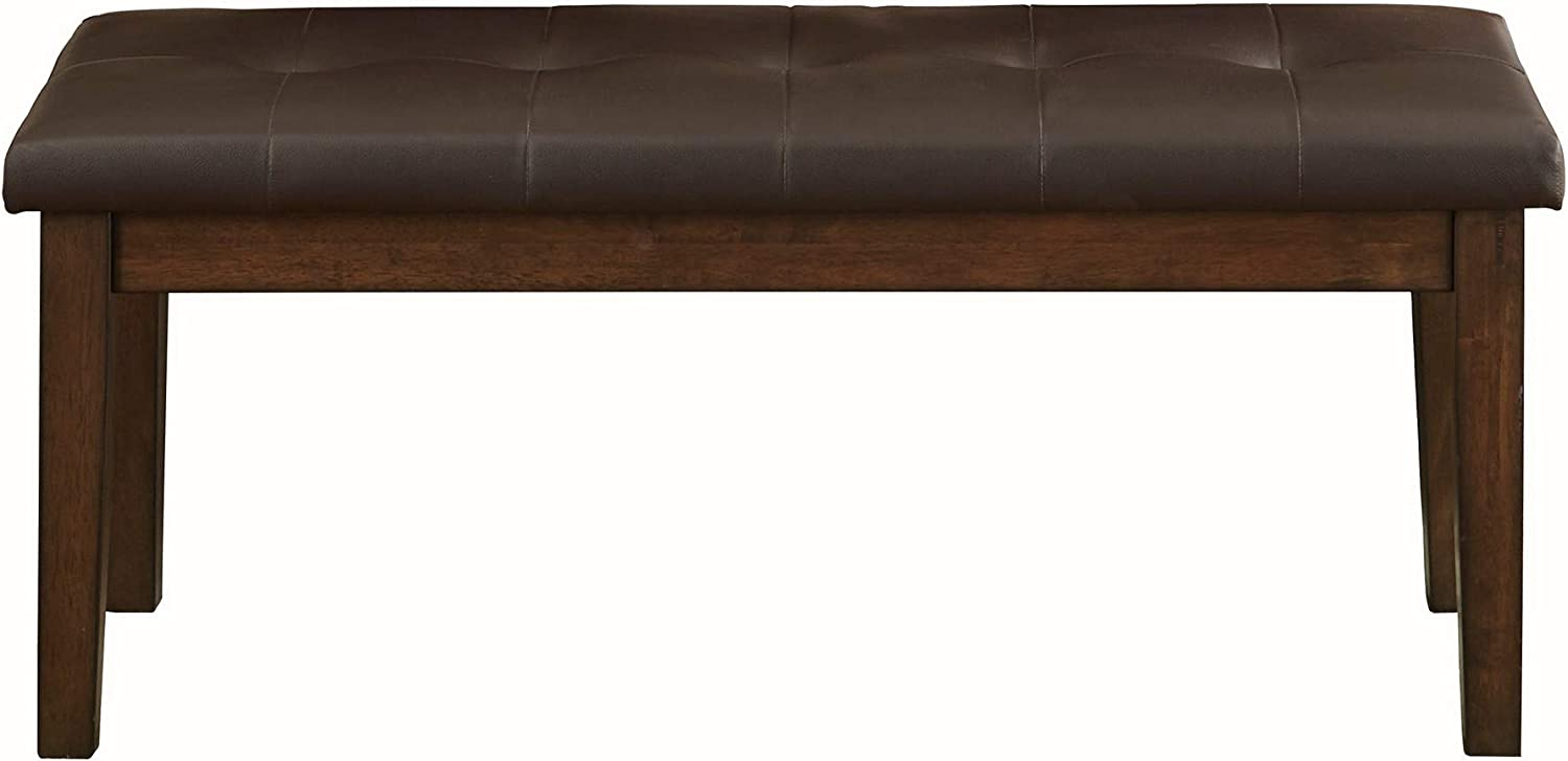 Benjara Max 57% OFF Fabric Padded Bench with Tufted Seat Legs and Tapered B Large-scale sale