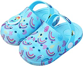 Kids Boys Girls Comfort Unicorn Sandals Lightweight Slip On Water Shoes Pool Garden Clogs Cute Summer Beach Slippers for Toddler