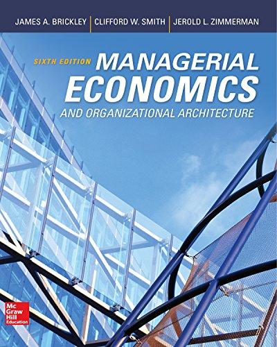 Managerial Economics & Organizational Architecture (Irwin Economics) (English Edition)