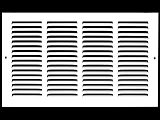 16w X 8h Steel Return Air Grilles Black Sidewall and Ceiling Outer Dimensions: 17.75w X 9.75h HVAC Duct Cover