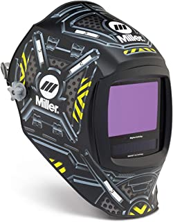 Miller Digital Infinity Black Ops Black/Yellow/Silver Welding Helmet With Variable Shades 3, 5 - 13 ClearLight Lens Technology Auto Darkening Lens, Package Size: 1 Each