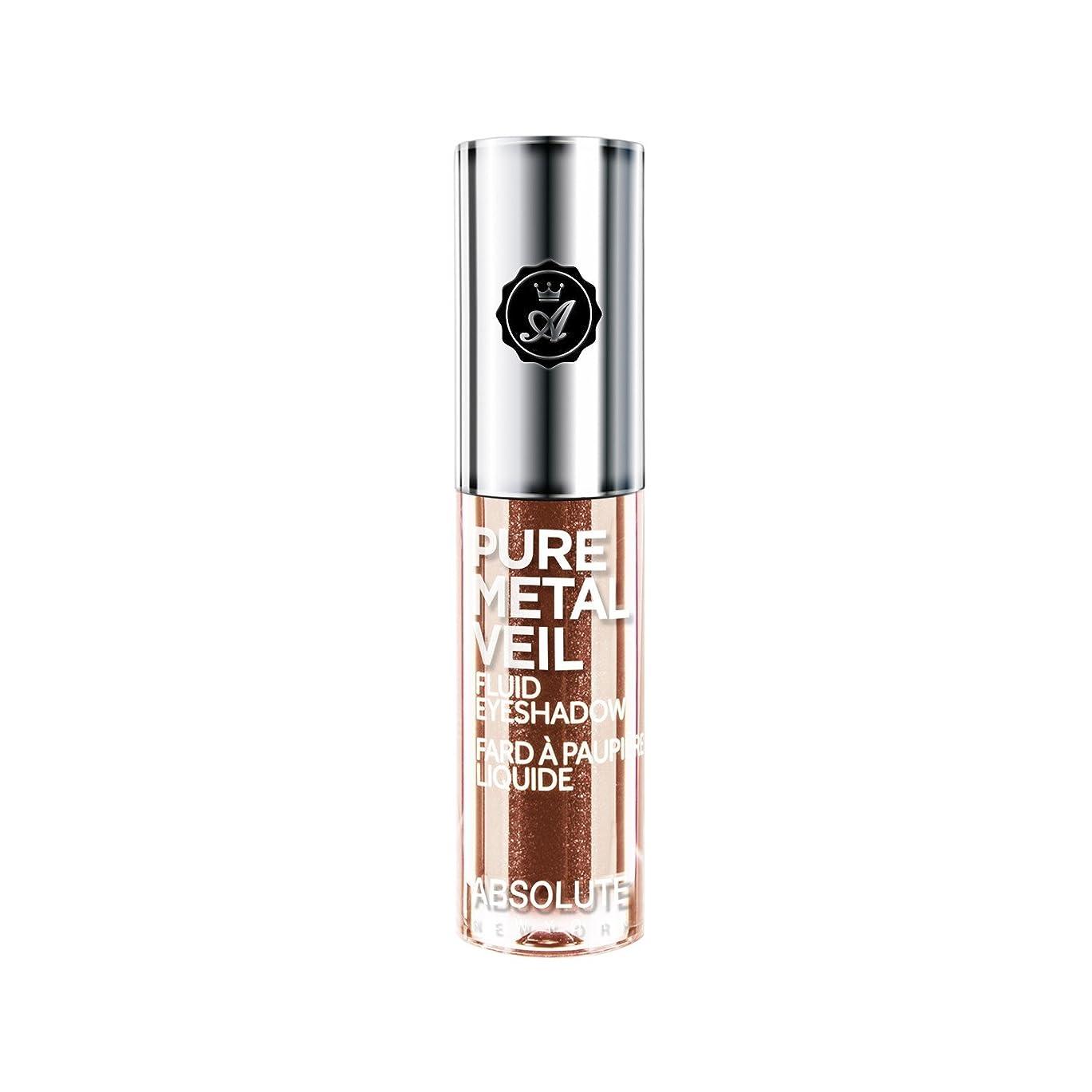 無実パッケージ確実(3 Pack) ABSOLUTE Pure Metal Veil Fluid Eyeshadow - Copper Glitz (並行輸入品)