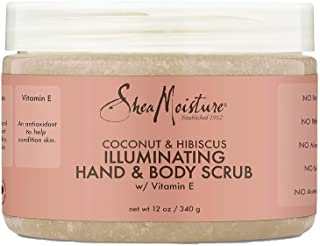 SHEA MOISTURE Coconut & Hibiscus Hand & Body Scrub 12 Ounce (Pack of 3)