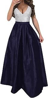 ✫Party Ball Prom Dress,Women Plus Size Sequin Formal Wedding Bridesmaid Long Evening Dress