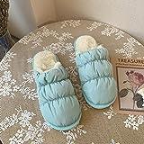 B/H Calido Zapatillas Memory Foam,Zapatillas de Pareja Cloud para Mujer, además de Zapatos de plumón en Winter-Blue_43