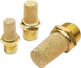 Beduan 3 Pcs Pneumatic Brass Exhaust Muffler Filter, 3/4