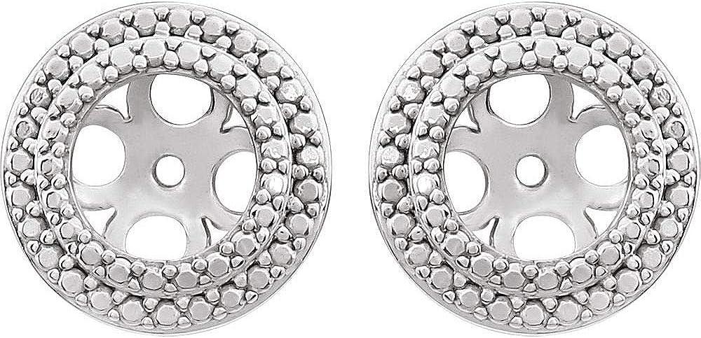 5.5mm ID Earring Jackets (10mm x 10mm)