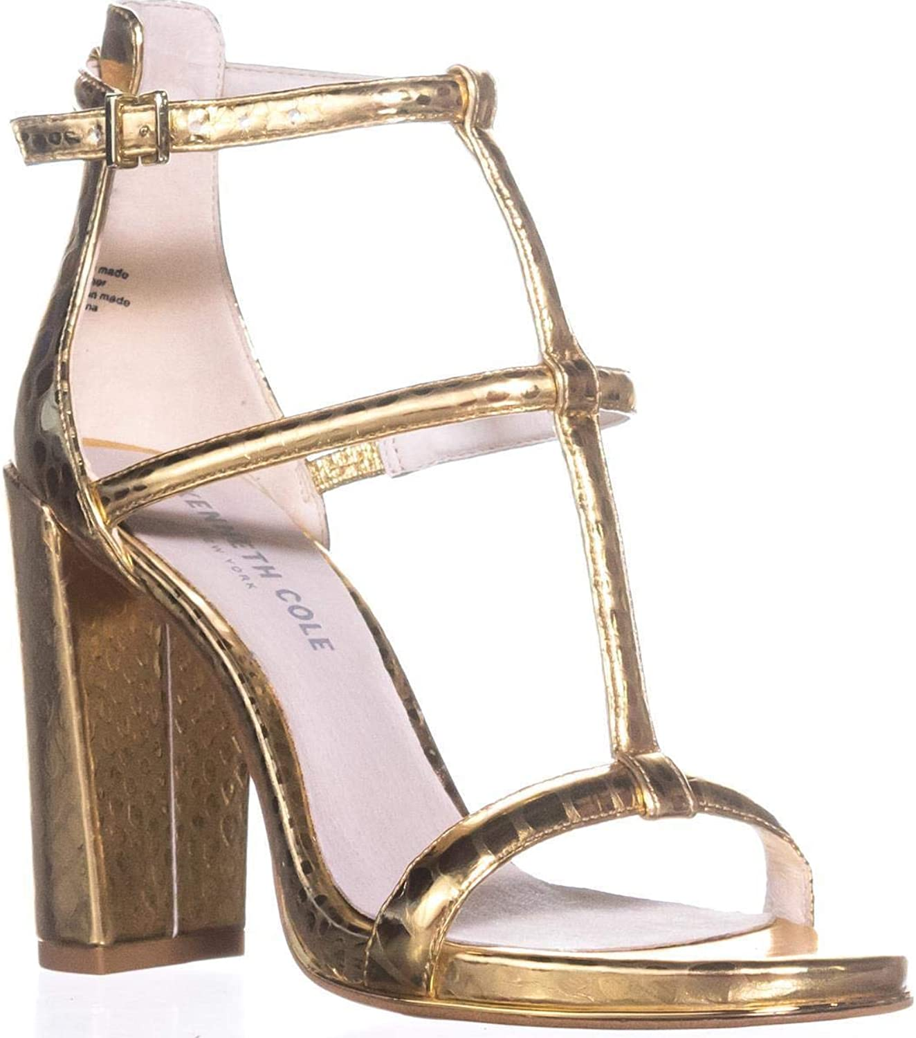 Kenneth Cole Deandra 2 Studded Dress Sandals, gold