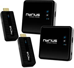 Nyrius Aries Prime Wireless Video HDMI Transmitter & Receiver for Streaming HD 1080p 3D Video & Digital Audio from Laptop, PC, Cable, Netflix, YouTube, PS4 to HDTV - NPCS549 (Pack of 2)
