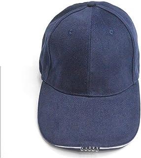 UxradG 5 Panel Baseball Cap Hat, verstellbar Baumwolle Cap mit 5-LED Lichter für Outdoor Travel Angeln für Männer Frauen