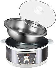YiWon Marmite électrique multifonction 5 l 1300 W Cuiseur vapeur Slow Cooker avec minuteur