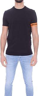 DSQUARED2 T-Shirt Uomo D9M3S3550 Brothers Nera Fascia Arancione Primavera Estate 2021