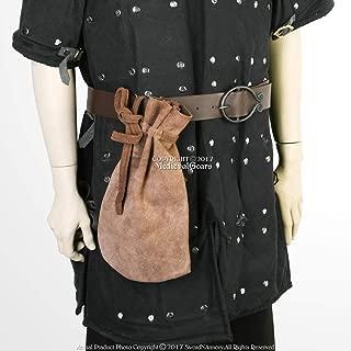 Medieval Moneybag Suede Leather Renaissance Faire LARP Drawstring Pouch