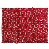 Saco térmico para la espalda o el vientre 40x30 cm rojo con corazones (Calor/Frio) - Almohadas térmicas de calor con semillas - Semillas de colza