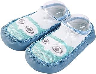 kdjsic, Kdjsic Zapatos de bebé Calcetines para Piso de bebé Niño de Dibujos Animados Animal Interior Antideslizante Grueso Suave