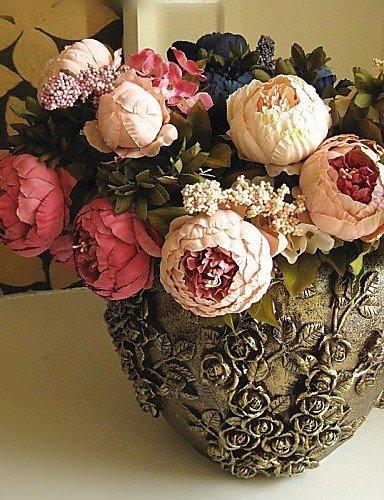 Fleurs artificielles, soie Pivoines Fleurs artificielles Coffee