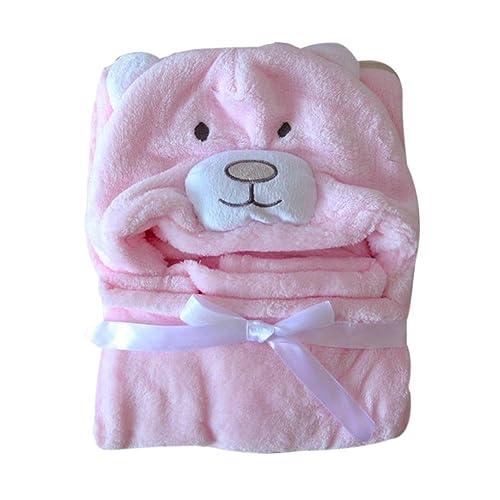 Minuya Couverture de Bébé, Mignonne Animal de Doux et Confortable Chaud Toison Plaid Bebe 98 * 76CM