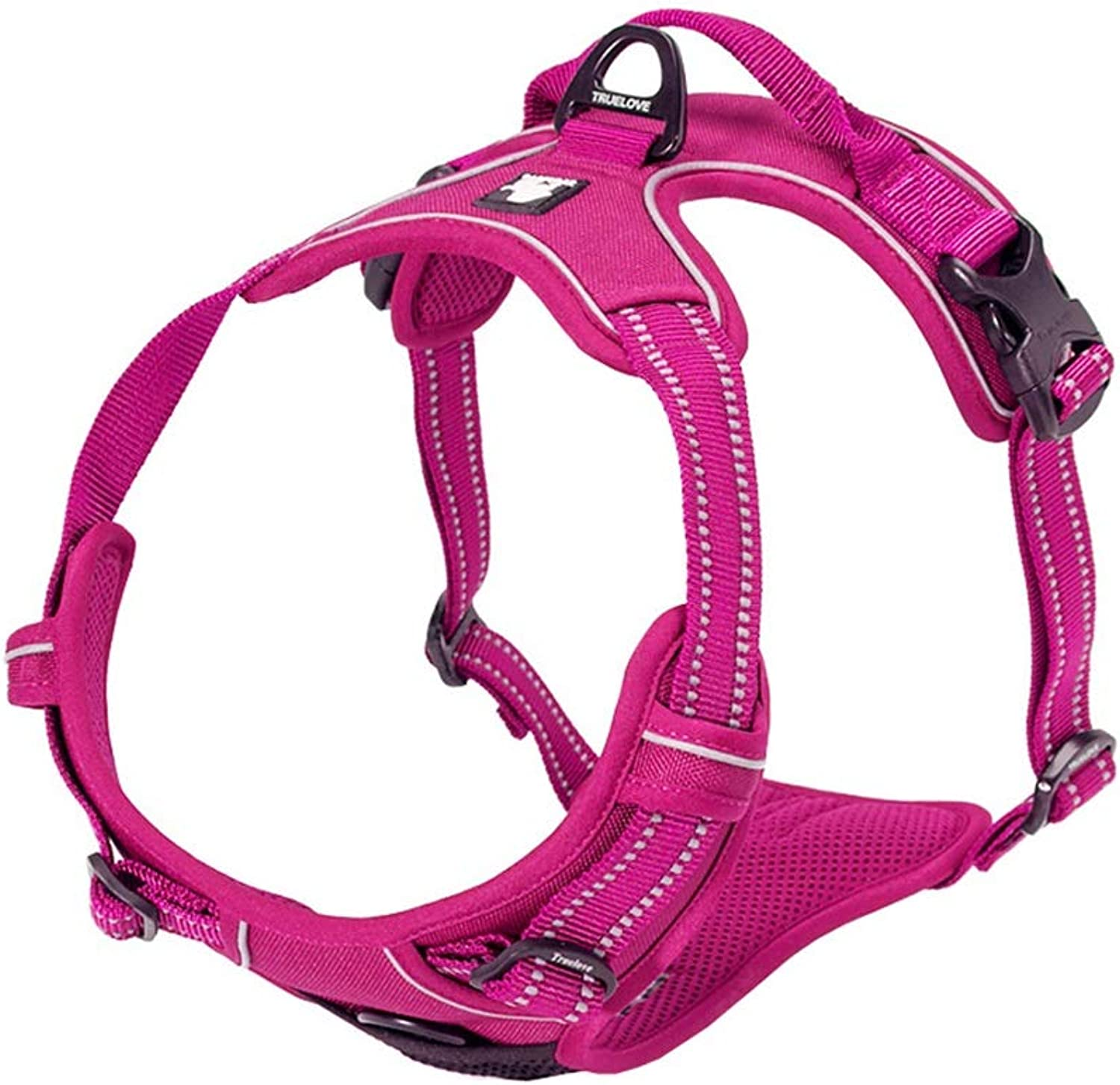 Ryan Dog Vest Harness, Pet Chest Strap Leash For Teddy golden Retriever Traction Adjustable Cat Supplies Buffering Comfortable Breathable Harness (color   pinkred, Size   M)