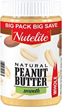Nutelite Natural Peanut Butter (Whole) - Smooth (Unsweetened, Non-GMO, Gluten Free, Vegan),  900 g