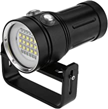 GOTOTOP Flashlight, 15 x L2 Bright LED Diving Flashlight Aluminum Alloy Underwater Video Photography Torch