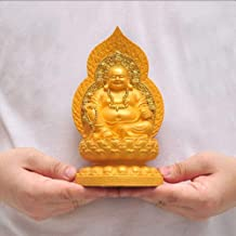 Chinese Feng Shui Decor Platform Laughing Sitting On The Lotus Buddha Statues Attract Wealth and Good Luck for Home and Of...