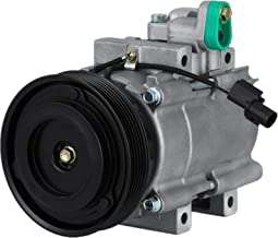 MophornCO 10957C (9770126300) Universal Air Conditioner AC Compressor and Clutch for 01-06 HyundaiSanta Fe 2.7L 2001 2002 2003 2004 2005 2006 OEM HS18A/C Compressor 57183 58183