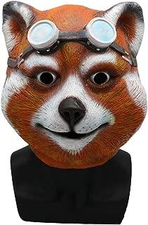Cute Sunglasses Civet Cat Mask, Rubber Latex Animal Mask, Novelty Halloween Costumes Horseman Mask