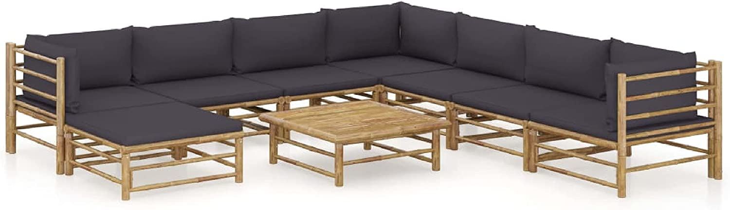 KA Company Outdoor Max 72% OFF Furniture Set 9 Garden sale wit Piece Lounge