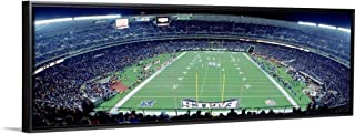Floating Frame Premium Canvas with Black Frame Wall Art Print Entitled Philadelphia Eagles NFL Football Veterans Stadium Philadelphia PA 36