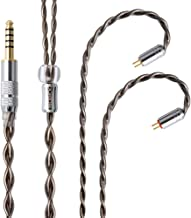 NICEHCK DJY3 4芯 イヤホンケーブル 高純度銀メッキ単結晶銅 OCC 7N純度99.99999% 2Pin 4.4mmプラグ 金属製コネクタ 上位ケーブル 耳掛型 リケーブル アップグレードケーブル 5極 非常に柔らかい 1.2m DIYイヤホンのアクセサリ 高級交換用ケーブルTRN IM1 V80 V60 V20 V10、TFZ EXCLUSIVE、SIMGOT EN700PRO、CCA C10 C16、KZ ZS3E BA10 AS10 ZSA ZS10 ES4 ZSR ZS6 ZST ZS5 ES3 AZLA、BQEYZ KB1 KC2等に対応 (4芯 2Pin 4.4mm)