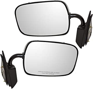 Driver and Passenger Manual Side View Below Eyeline Mirrors Replacement for Chevrolet GMC Pickup Truck 15697329 19177485