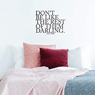 Don't Be Like The Rest of Them Darling - Coco Chanel Inspirational Quote - Wall Art Decal - 20