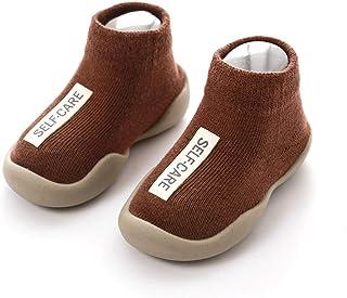 LiuQ Bebé Calcetines Calcetines de bebé con Suelas de Goma Calcetín Infantil Recién Nacido Primavera Verano Otoño Niños Calcetines de Piso Zapatos Antideslizante Calcetín de Suela Blanda