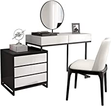 Makeup Dressing Table Dressing Table with Mirror Vanity Table Set with Stool/3 Drawer for Bedroom Makeup Storage Set for W...