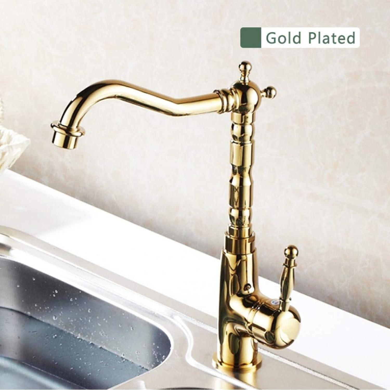 Lddpl Tap Bathroom Faucet gold Brass 360 Degree Kitchen Faucet Swivel Bathroom Basin Faucet Sink Mixer Tap Crane