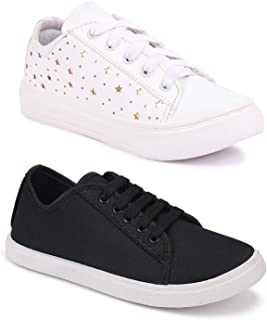 Longwalk Women Latest Collection Sneakers Shoes | Casual Style | Trending Shoes for Girl's| Combo (Pack of 2) | Light Weig...