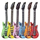 EPRHY Guitarra inflable impermeable colores surtidos decoración de fiesta (6 unidades)