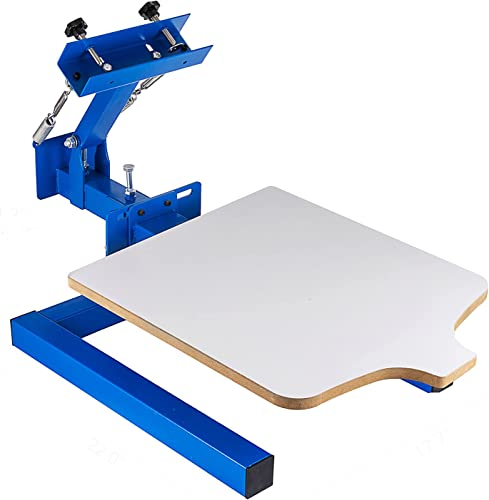 """lowest SHZOND Screen Printing Press 1 Color 1 Station Silk Screen Printing Machine 21.7"""" online sale online sale x 17.7"""" Removable Pallet Screen Printing Machine Press for T-Shirt DIY Printing outlet online sale"""