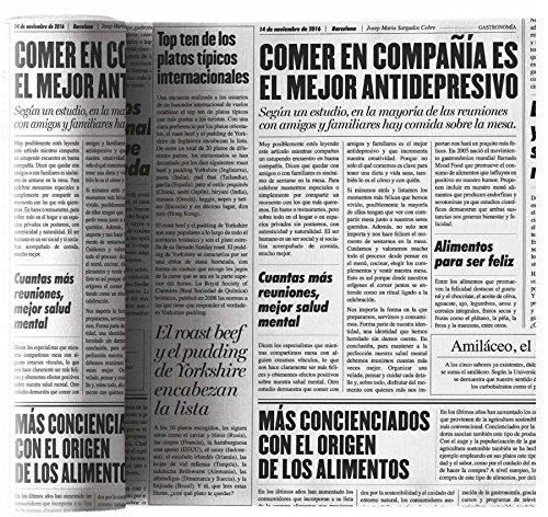 My Drap Cóctel de algodón servilletas, plástico, Tela, Newspaper, 11 x 11 x 0.1 cm