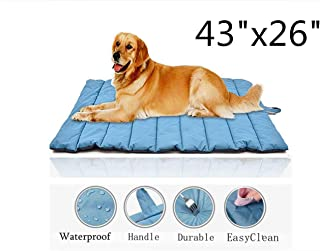 """Cheerhunting Outdoor Dog Bed 43""""x26"""",  Waterproof,  Washable, Large Size,  Durable, Water Resistant,  Portable and Camping Travel Pet Mat"""